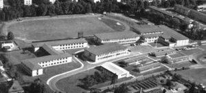 Aerial photo of Frankfurt High School in 1960