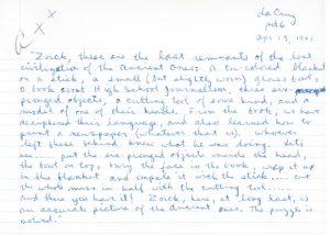 Image of handwritten creative story