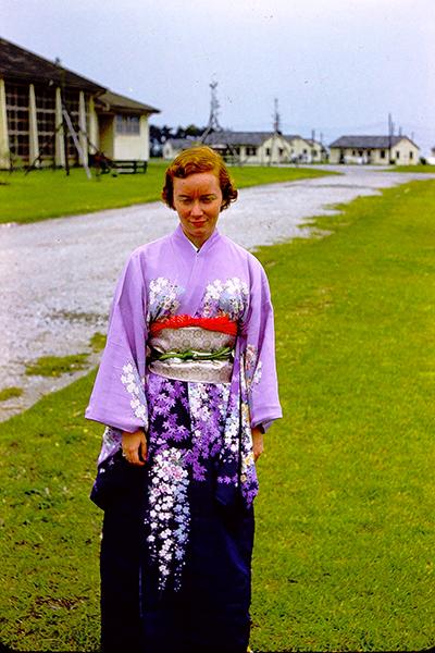 Jean Hullman Ruhman in kimono