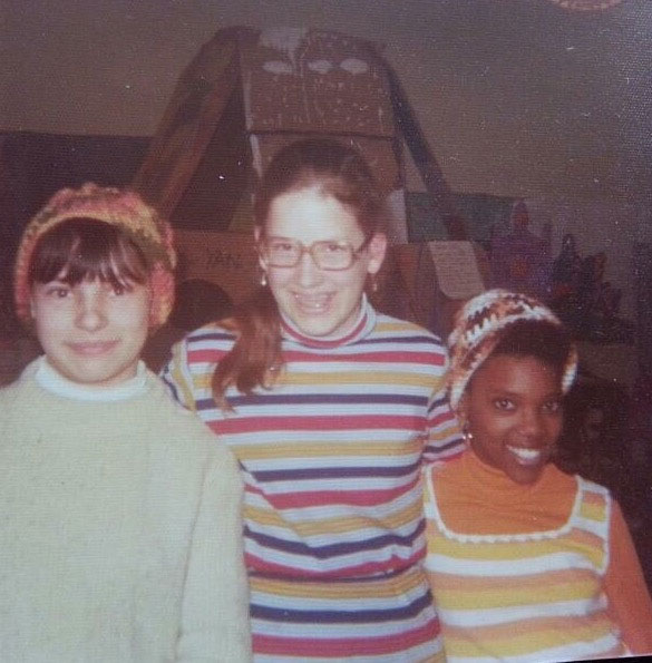 Photo of three of the four Pforzheim Elementary sixth graders